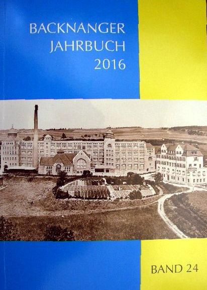 Backnanger Jahrbuch Band 24 - 2016