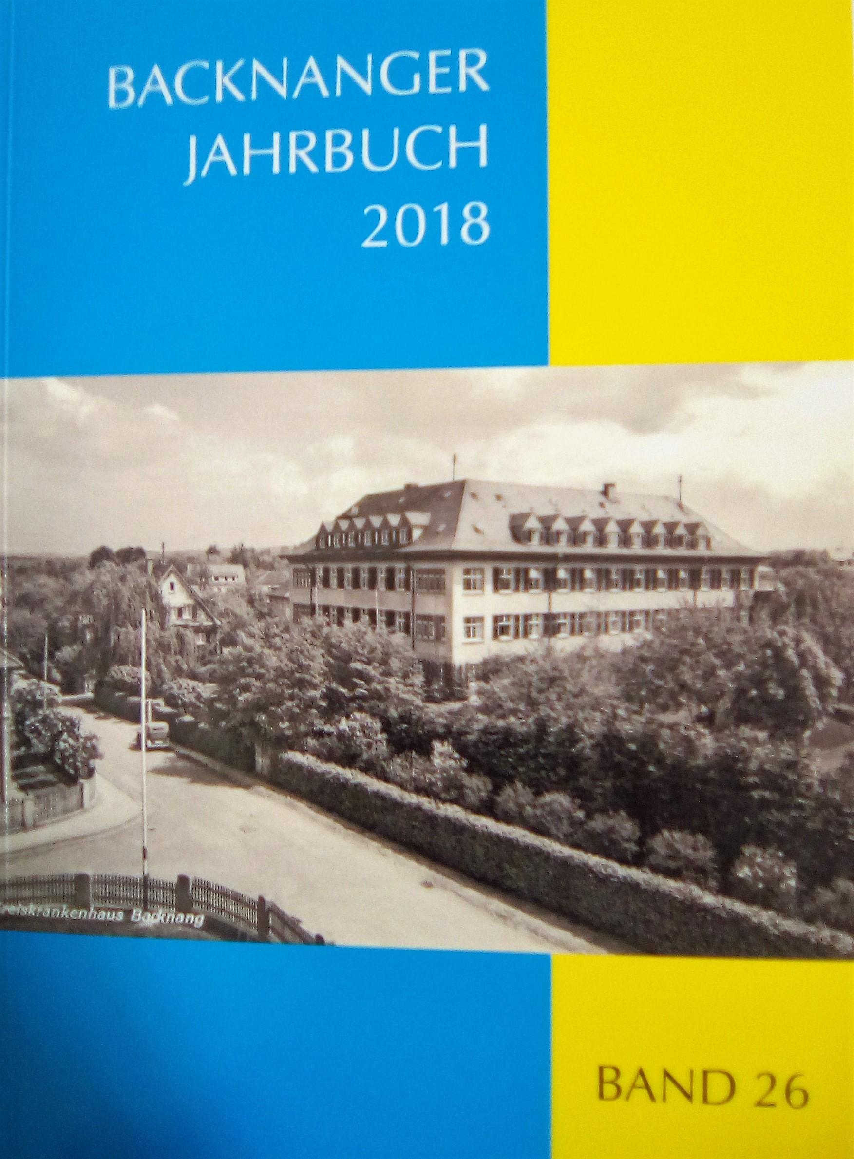 Backnanger Jahrbuch Band 26 - 2018