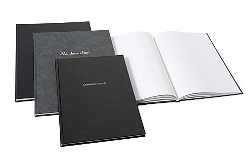 Kondolenzbuch groß, schwarz