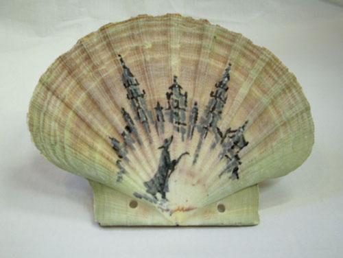 Bemalte Jakobsmuschel III