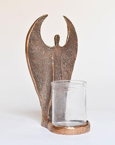 Engel-Stehleuchter mit Glaseinsatz