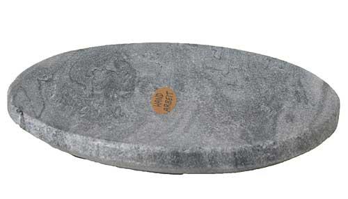 Kerzenteller oval aus Naturstein