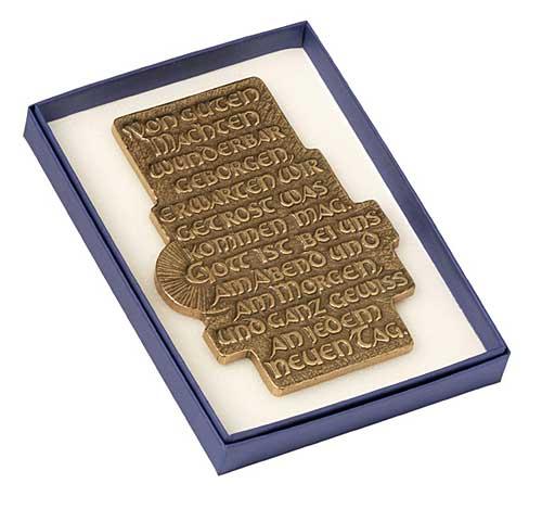 Von guten Mächten geborgen - Spruchplakette - in Box