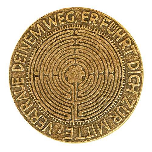 Labyrinth - Plakette mit Text