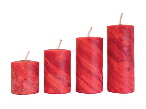 Bienenwachskerzen - rot für Adventskranz – 4 Kerzen im Set