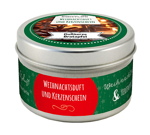 Duftkerze - Weihnachtsduft Bratapfel