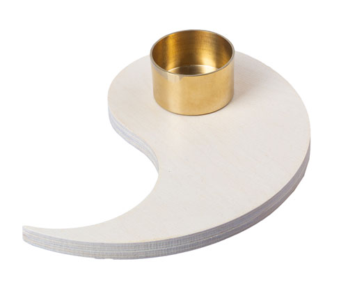 Kreis des Lebens - Teelichthalter - hell