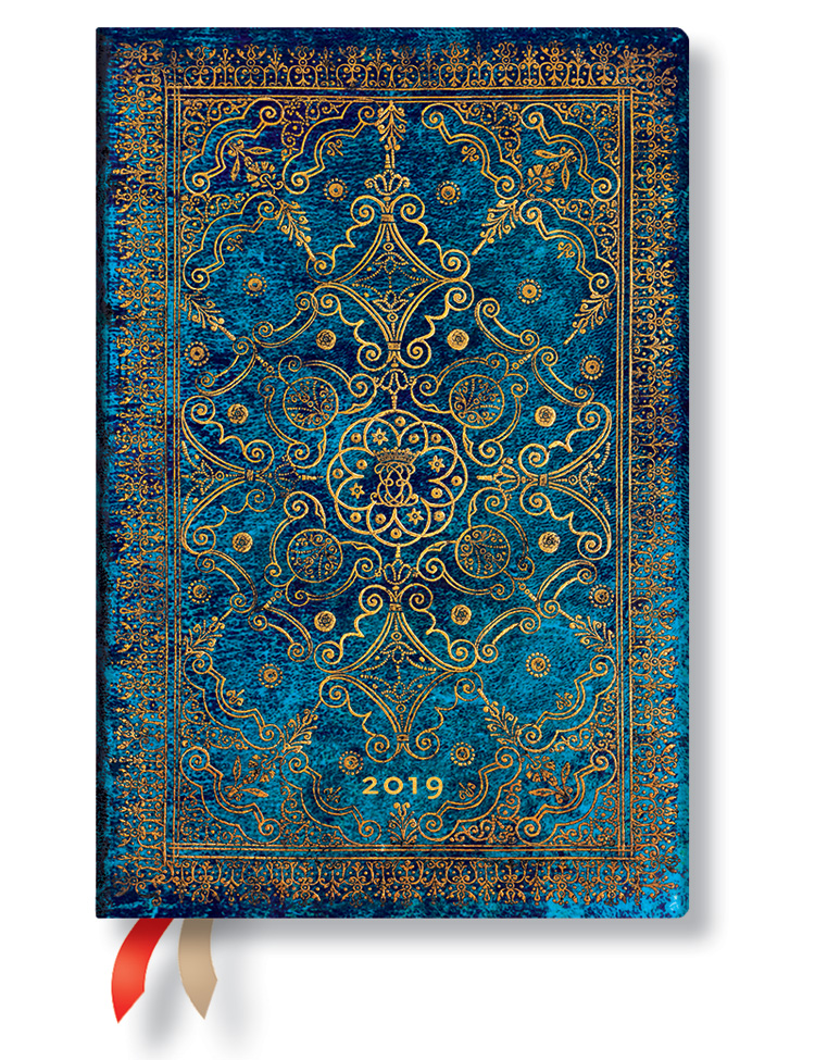 Kalender 2019 - Azurblau, Mini (Wochenüberblick)