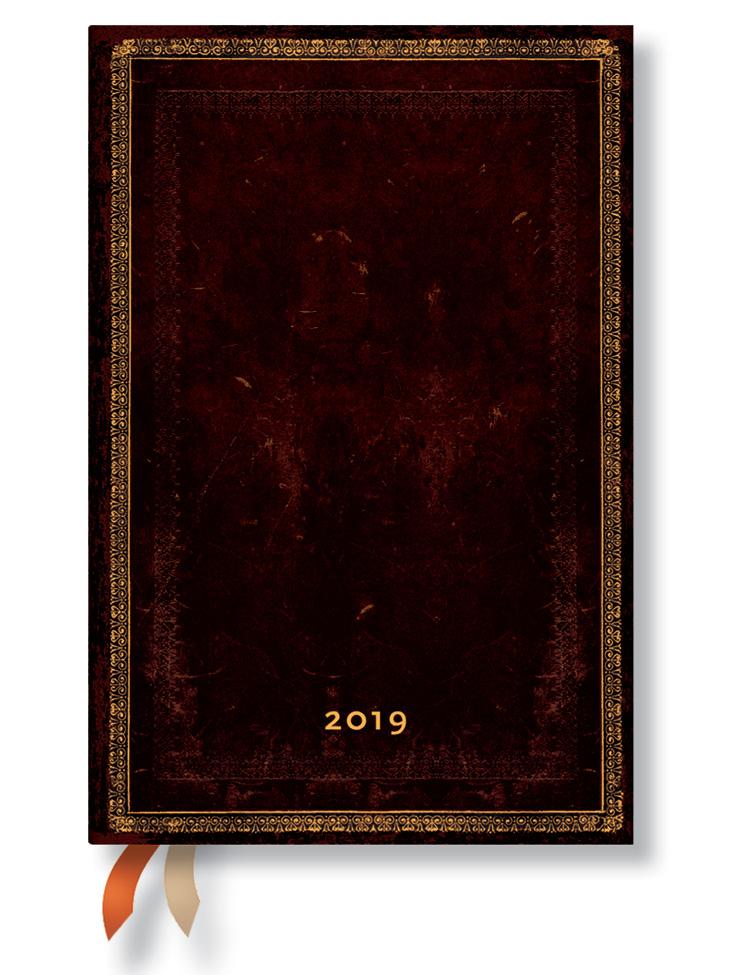 Kalender 2019 - Schwarzes Marokkoleder, Mini (Wochenüberblick)