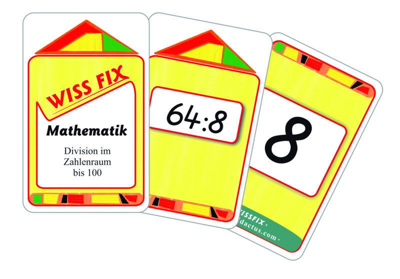 Wissfix Kartensatz Division bis 100