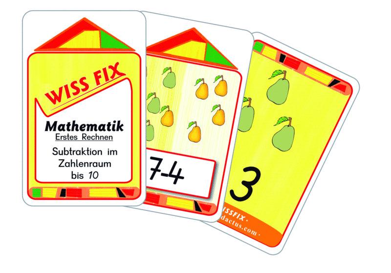 Wissfix Kartensatz Subtraktion bis 10
