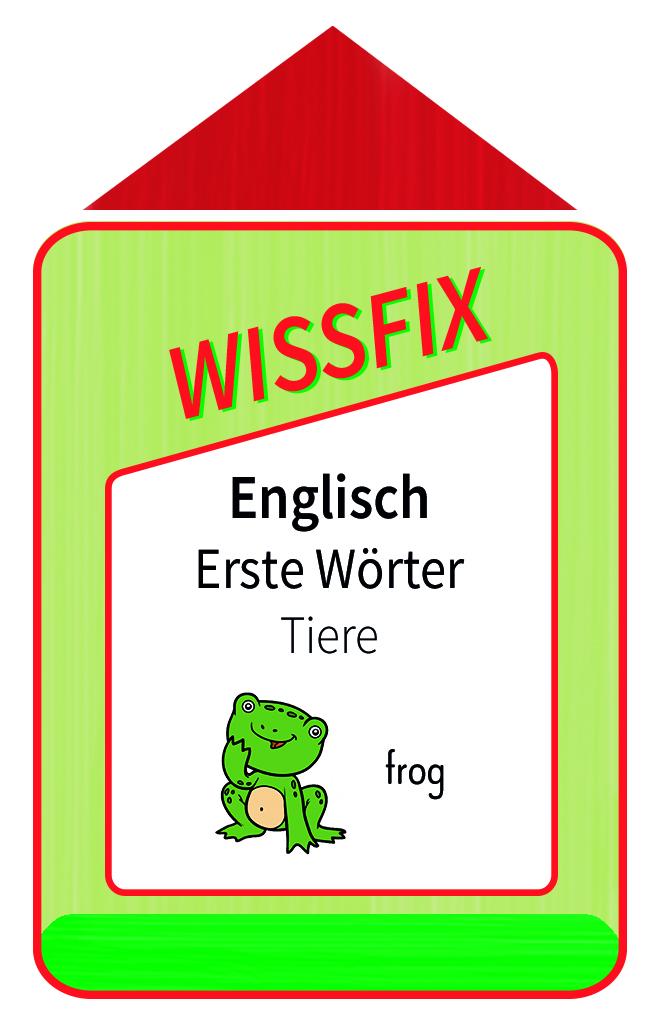 Wissfix Kartensatz Englisch - Tiere