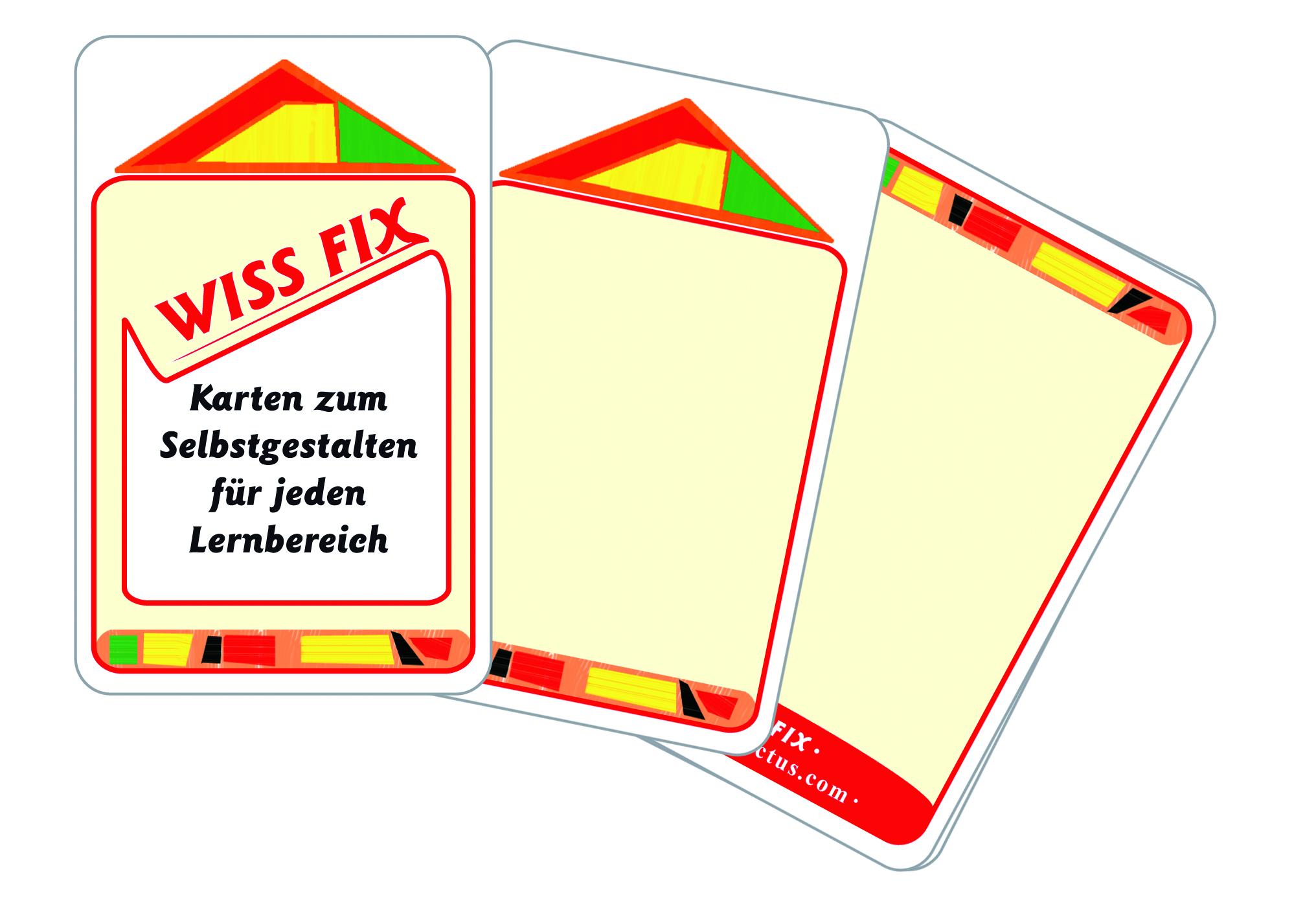 Wissfix-Kartensatz zum Selbstgestalten