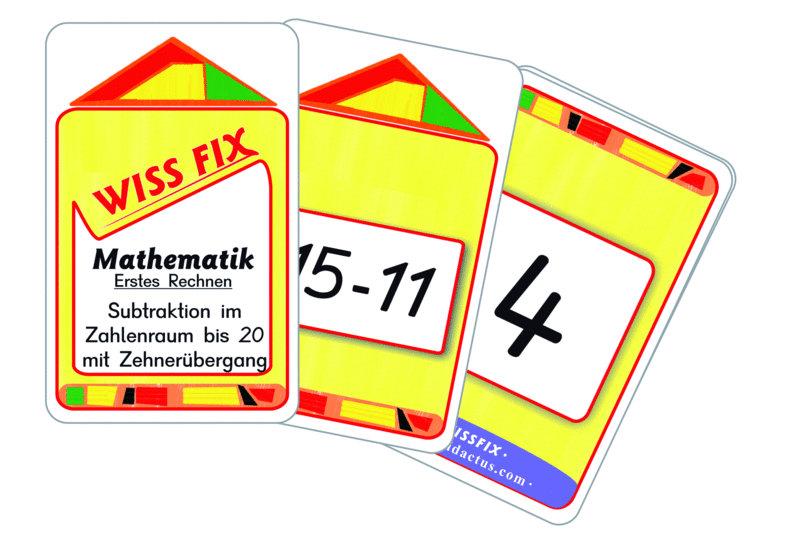 Wissfix Kartensatz Subtraktion bis 20
