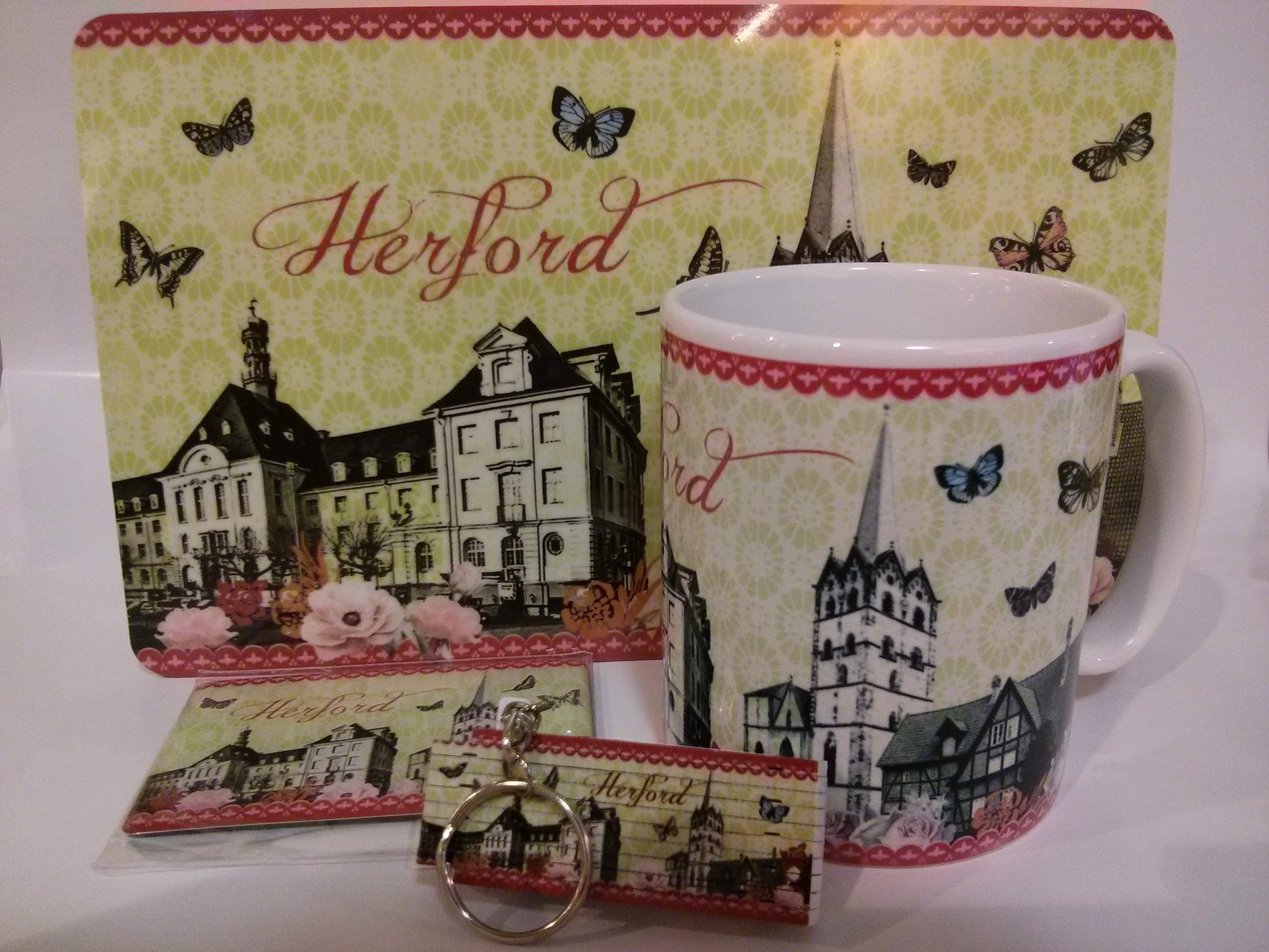 Herford 4er-Set Motiv Nostalgie