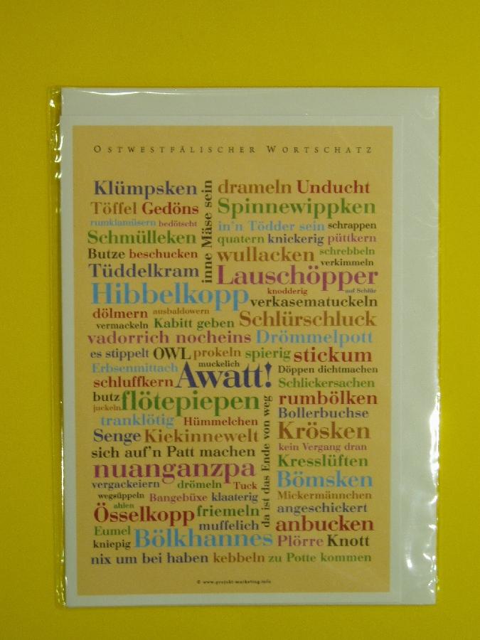 Doppelkarte 'Ostwestf'lischer Wortschatz'