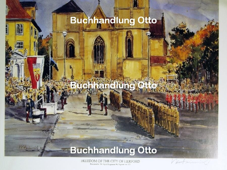 Freedom of the City of Herford - Militärparade auf dem Rathausplatz Herford