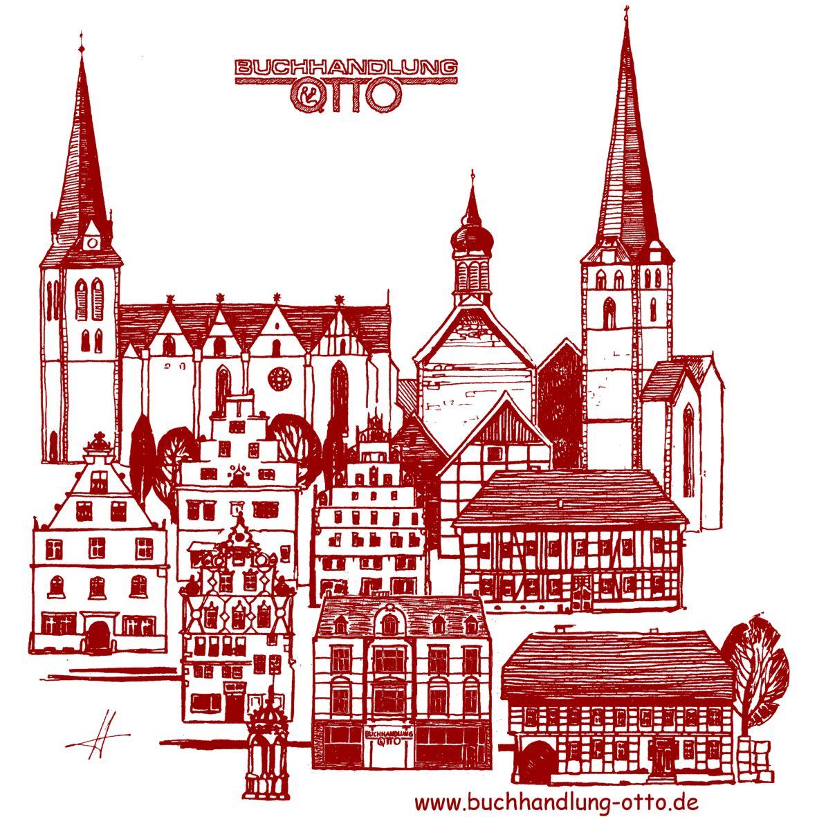 Baumwolltasche Herford, burgund