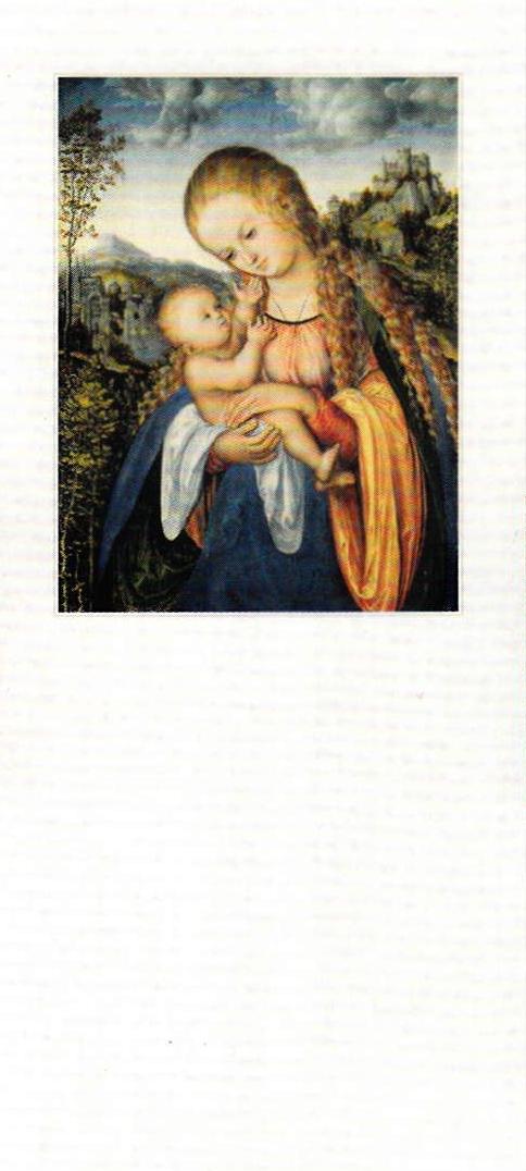 Kalenderrückwand (Madonna mit dem Kinde) für den Liturgischen Tagesabreißkalender
