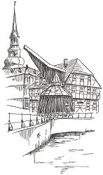 Briefkarte Stade - Kran und ehemalige Stadtwaage