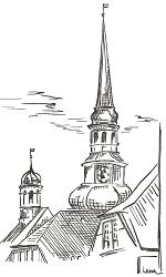 Briefkarte Stade - St. Cosmae-Kirche