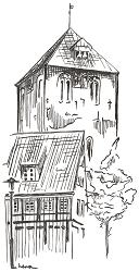 Briefkarte Stade - St. Wilhadi-Kirche