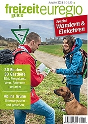 freizeitguide euregio spezial: Wandern & Einkehren 2021 - Cover
