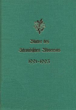 Gebundene Blätter des Schwäbischen Albvereins (1991-1993)