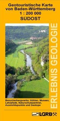 Geotouristische Karte von Baden-Württemberg - Südost