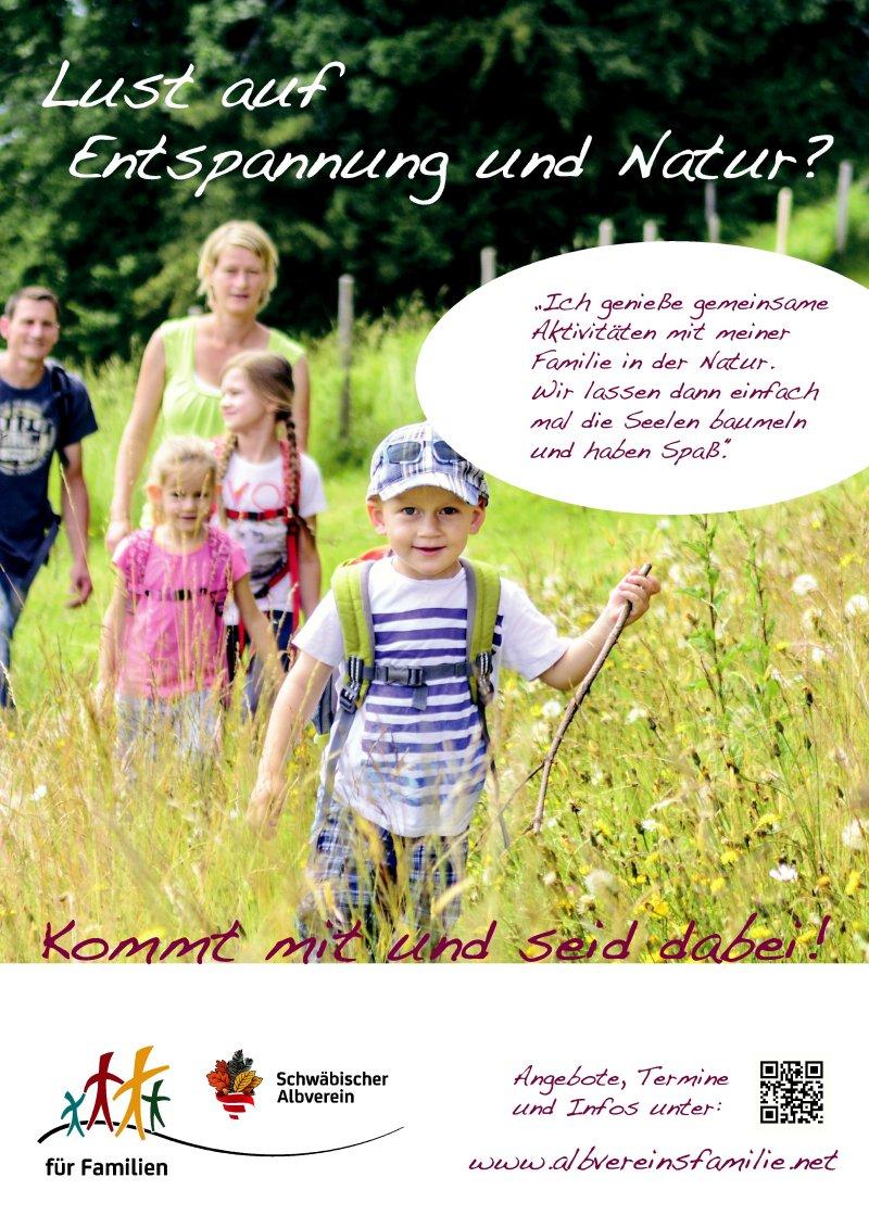 Imageplakat Druck 1 Familien im Albverein