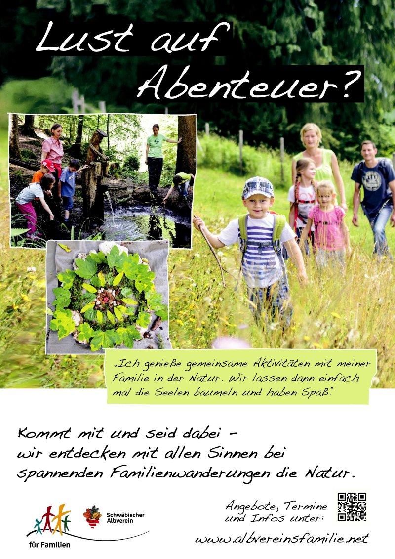 Imageplakat Druck 2 Familien im Albverein