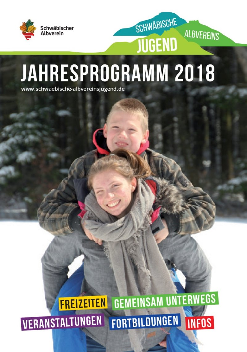 Jahresprogramm 2018 Albvereinsjugend