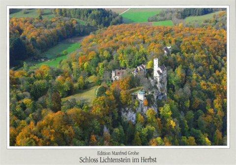 Schloss Lichtenstein im Herbst