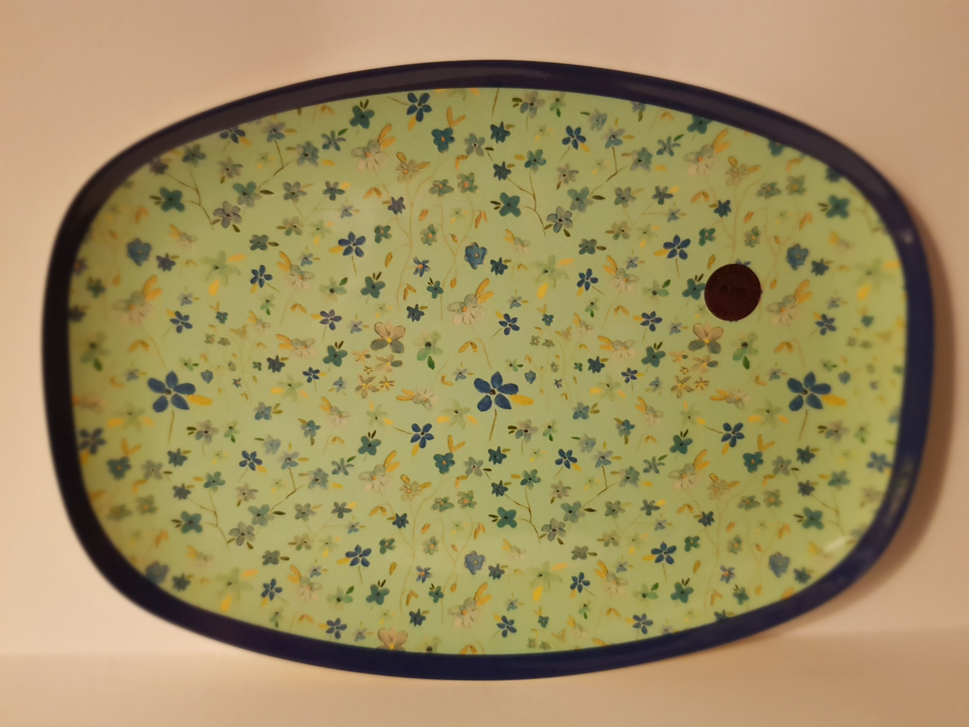 Rechteckige Melamin Platte, mint,