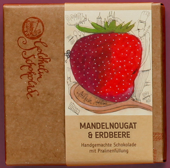Mandelnougat & Erdbeere - Canache - ca. 100g
