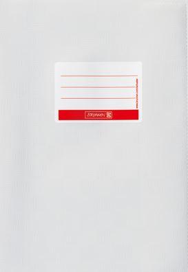 Hefthülle A4 weiß Folie mit Schild 104052400