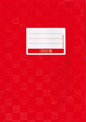 Hefthülle A4 hochrot Folie mit Schild 104052424