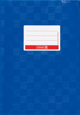 Hefthülle A5 enzianblau  Folie mit Schild 104052536