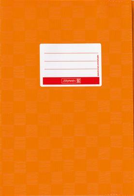 Hefthülle A4 orange Folie mit Schild 104052440