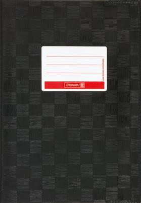 Hefthülle A5 schwarz Folie mit Schild