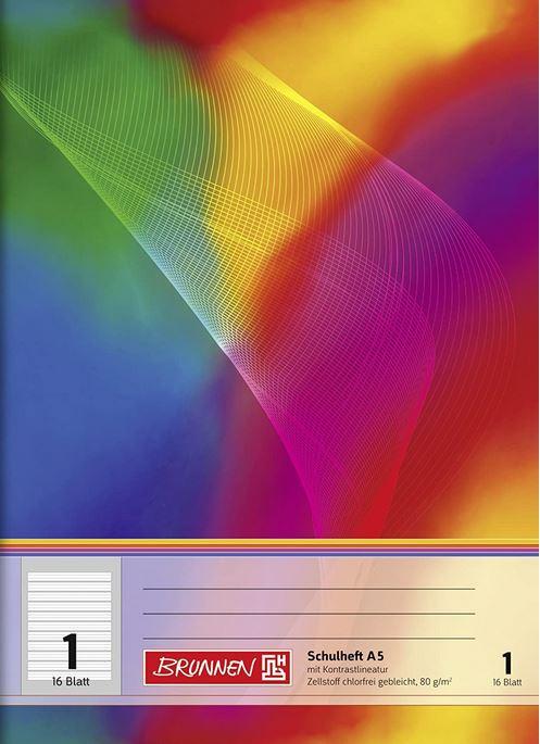 Schulheft A5 Lineatur 1K VA 16 Blatt 104598102