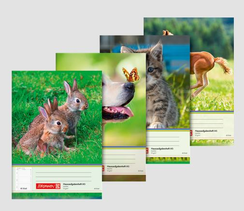 Aufgabenheft A5 48 Blatt Tiere 104681402