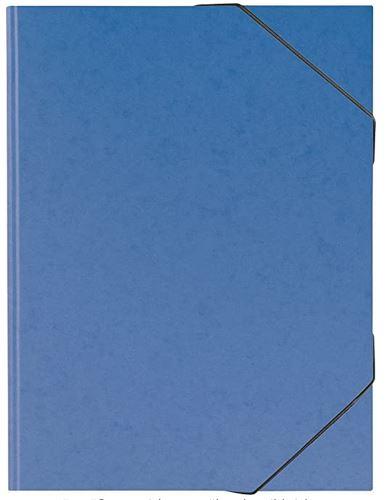 Sammelmappe, A3, Karton, mit Gummizug, blau // 104708337