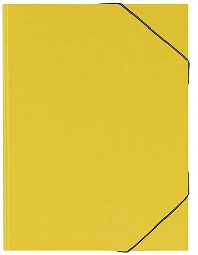 Sammelmappe, A3, Karton, mit Gummizug, gelb 104708310