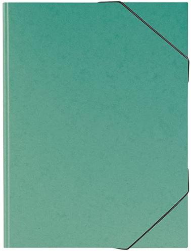 Sammelmappe, A3, Karton, mit Gummizug, grün // 104708359
