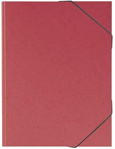 Sammelmappe, A3, Karton, mit Gummizug, rot // 104708324
