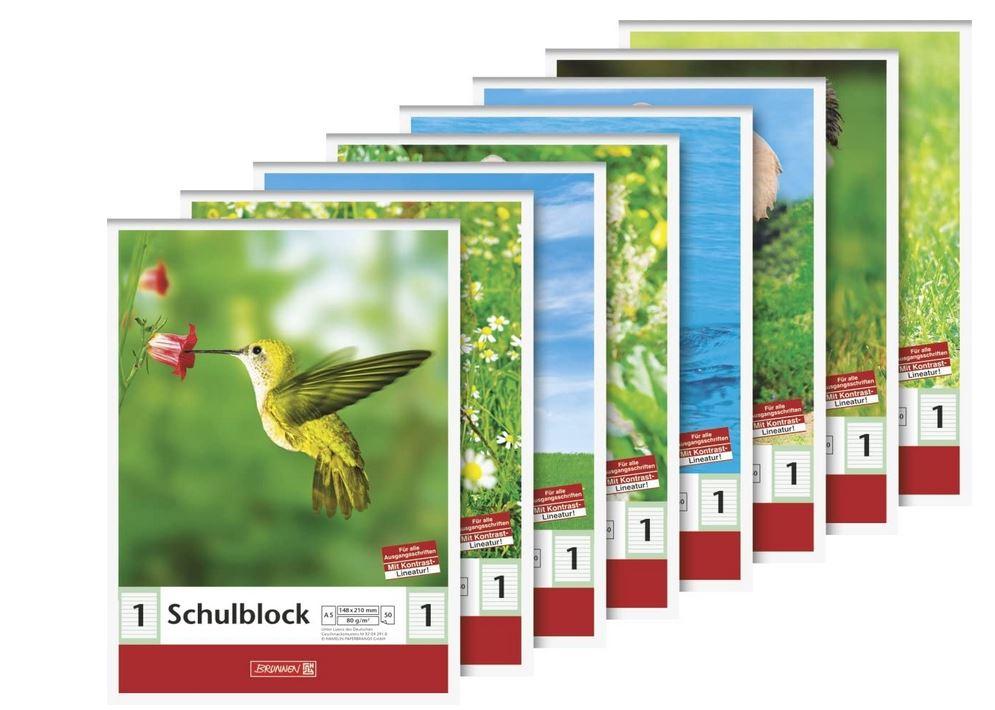 Schulblock (A5, 50 Blatt, liniert, Lineatur 1, Klasse 1) 104188101