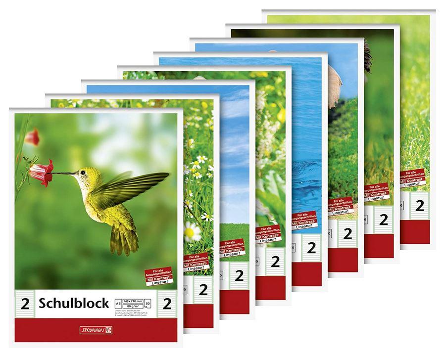 Schulblock (A5, 50 Blatt, liniert, Lineatur 2, Klasse 2) 104188201
