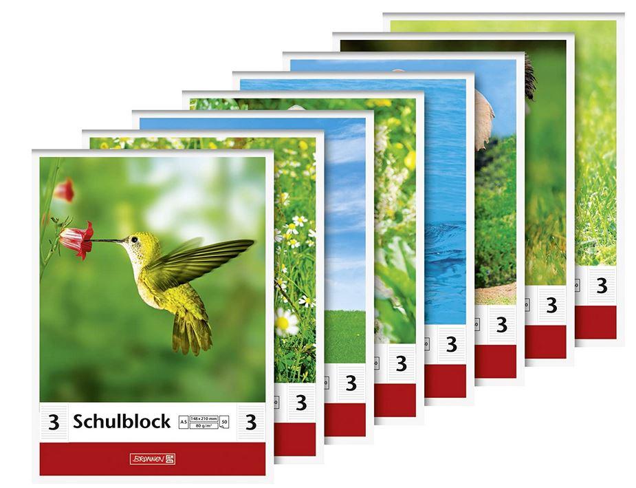 Schulblock Lineatur 3 (A5, 50 Blatt, liniert) 1041923