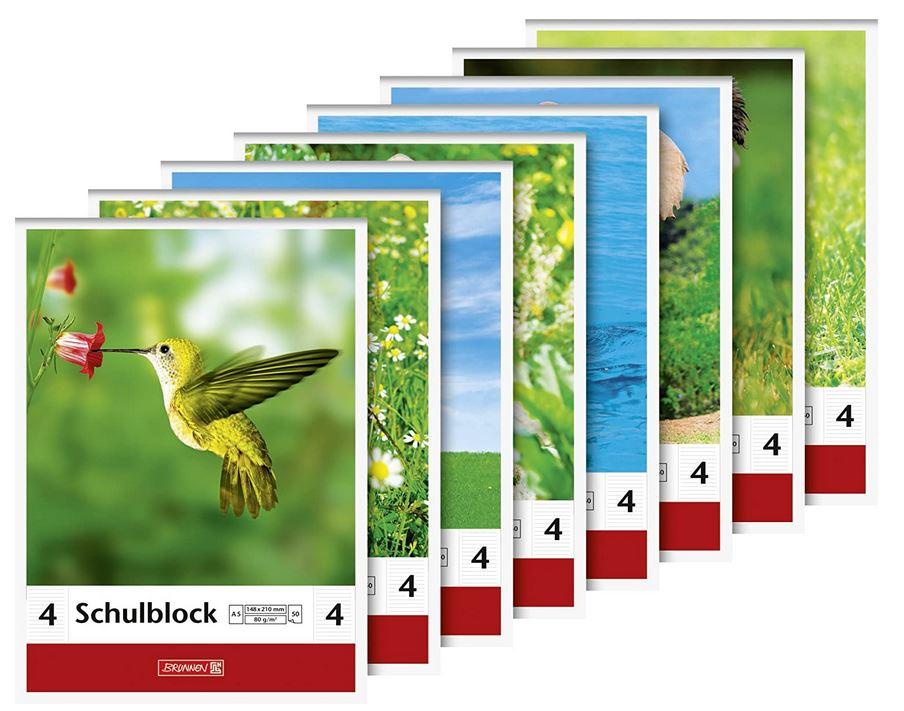 Schulblock Lineatur 4, A5, 50 Blatt, liniert, 1041924